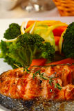 Delicious Salmon grilled Royalty Free Stock Image