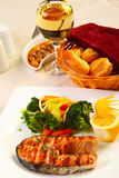 Delicious Salmon grilled Royalty Free Stock Images