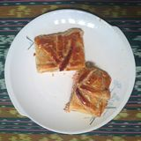 Delicious Salmon Pastry Puff Royalty Free Stock Photos