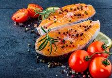 Delicious salmon steak Stock Images
