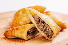 Free Delicious Samosa Pies With Meat On Plate. Menu, Restaurant, Recipe Stock Image - 72349731