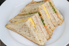 Delicious sandwich. Breakfast food  lunch meal vegetable Royalty Free Stock Photos