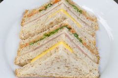 Delicious sandwich. Breakfast food  lunch meal vegetable Royalty Free Stock Photography