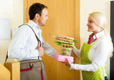 Delicious sandwich for husband Royalty Free Stock Image