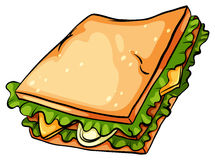 Delicious sandwich with lettuce Royalty Free Stock Photos