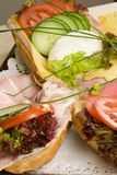 Delicious sandwiches Royalty Free Stock Photos