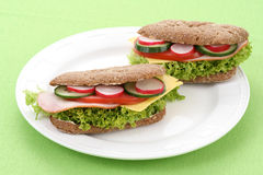 Delicious sandwiches Stock Photo