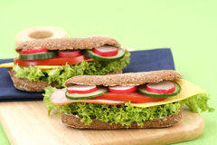 Delicious sandwiches Royalty Free Stock Photography