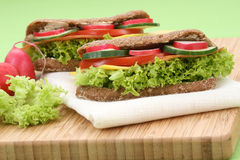 Delicious sandwiches Stock Images