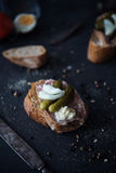 Delicious sandwiches made from whole grain bread Stock Images