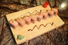 Delicious Sapporo maki sushi rolls Stock Photography