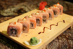 Delicious Sapporo maki sushi rolls Royalty Free Stock Photography