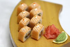 Delicious Sapporo maki sushi rolls Royalty Free Stock Image