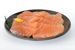 Delicious Sashimi on a Plate Stock Photography