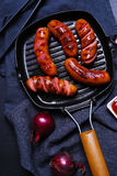 Delicious sausages Stock Images