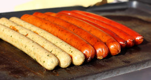 Delicious sausages Royalty Free Stock Photo