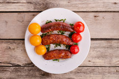 Delicious sausages. Stock Photography