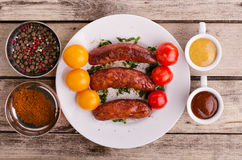 Delicious sausages. Stock Image