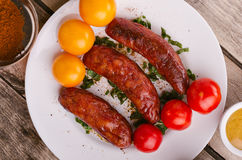 Delicious sausages. Royalty Free Stock Image