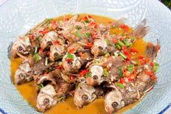 Delicious sauté fish Stock Images