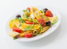 Delicious savory Italian ravioli salad Stock Photography