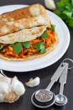 Delicious Savory Pancake. Healthy eating. Delicious Savory Pancakes Stock Photo