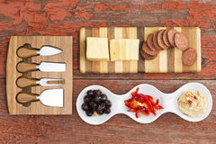 Delicious savoury appetizers Stock Image