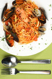 Delicious sea food pasta Royalty Free Stock Photos