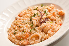 Delicious sea food risotto Royalty Free Stock Images