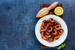 Delicious seafood dinner Royalty Free Stock Photo