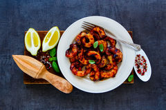 Delicious seafood dinner Stock Image