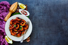 Delicious seafood dinner Royalty Free Stock Photos