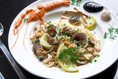 Delicious seafood dish Royalty Free Stock Photography