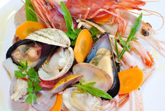 Delicious seafood salad Royalty Free Stock Images