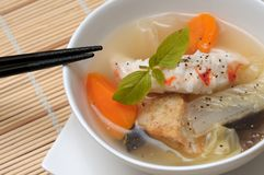 Delicious seafood soup Stock Photography