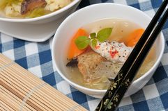 Delicious seafood soup Royalty Free Stock Photo