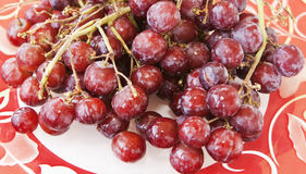 Delicious Seedless Red Grapes Stock Photos