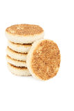 Delicious sesame cakes Stock Photography