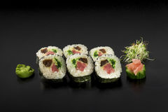 Delicious set sushi rolls Stock Photography