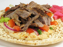 Delicious Shawarma Beef and Pi Stock Photography