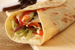 Delicious shawarma kebab Royalty Free Stock Photos
