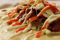 Delicious shawarma kebab Stock Photography