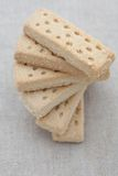 Delicious shortbread. On a hessian background Royalty Free Stock Photography