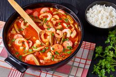Delicious shrimp and baby Okra Stew
