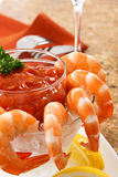 Delicious Shrimp Cocktail Stock Photo