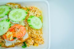 Delicious Shrimp fried rice,Asian fried rice Royalty Free Stock Images