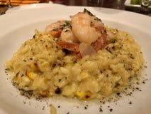 Delicious shrimp risotto closeup royalty free stock image