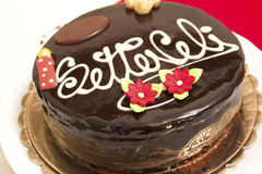 Delicious Sicilian torta setteveli, seven veils cake Royalty Free Stock Photos