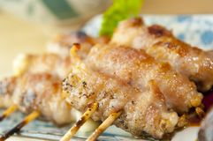 Delicious Skewered Chicken Royalty Free Stock Photos