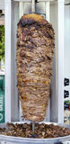 Delicious slabs of skewered fast food shawerma chicken and lamb Royalty Free Stock Photo